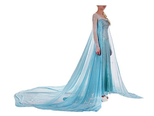 Fashion Cos Snow Queen Elsa Fancy Style Dress Cosplay Costume
