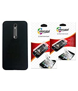 Colorcase Back Cover Case for Motorola Moto X Style with 2 Screeenguards (Combo Set)