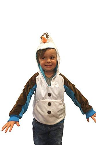Kids Olaf Hoodie Sweatshirt Frozen Costume