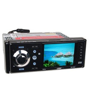 "3.5"" Sumas SM-3805 In-Dash Detachable Flip-Down Panel Car DVD/VCD/MP3 Player"