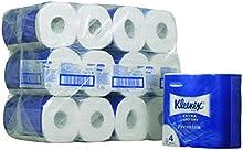 Kleenex 8484 Rollos de Papel Higiénico, Rollo Pequeño, 160 Servicios, Blanco