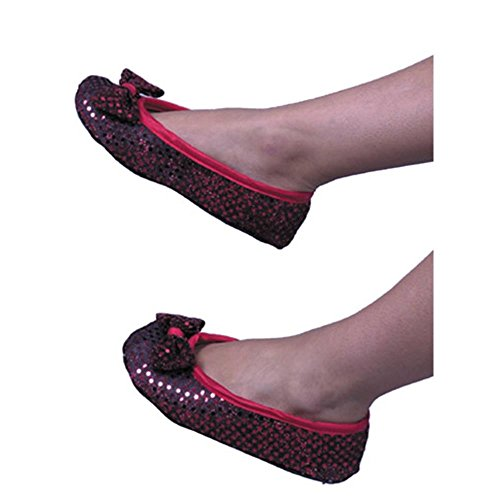 Women's Red Dorothy Costume Shoes (Sz: Large)