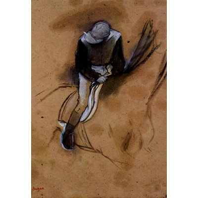 Edgar Degas Jockey Forward Flexed Standing in the Saddle Art Print Poster - 13x19
