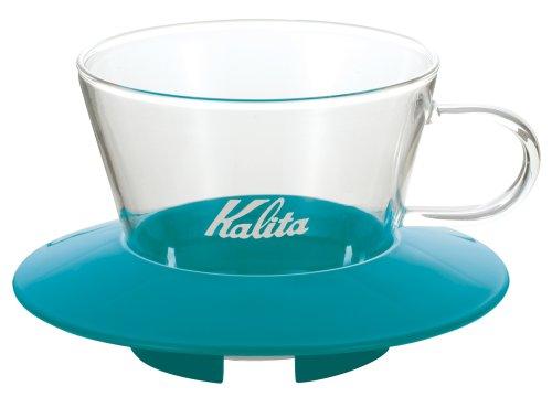 ①Kalita「ウェーブシリーズ ガラスドリッパー 155 ペパーミントグリーン」