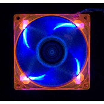 Aerocool 80Mm Uv Led Computer Fan (Orange / Blue)