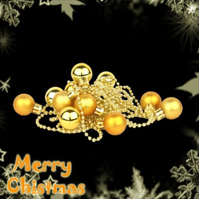 Golden Ball Bauble Light String Pack, Christmas