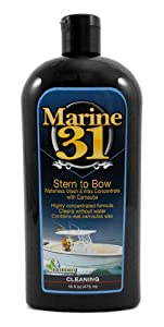 Marine 31 Stern to Bow Waterless Wash & Wax Concentrate with Carnauba 16 oz by Marine 31