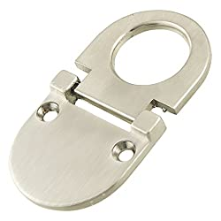 TOOGOO(R) Cupboard Drawer Metal Flush Mount Pull Ring Handle Silver Tone