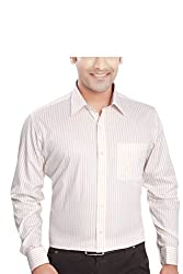 Boonplush-Men's- formal shirt (Yellow stripes) 38-cotton