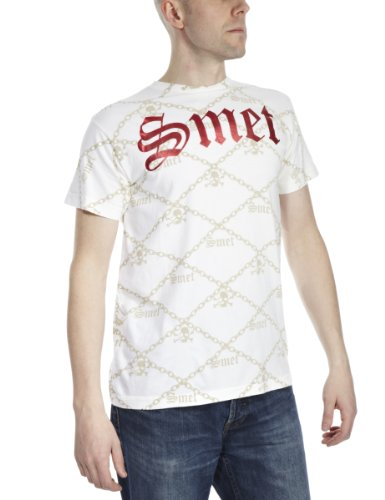 SMET By Christian Audigier Wrench Art Printed Mens T-Shirt White/Red Large