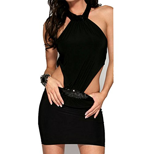 Sexy Mini Dress Bandage Clubwear Halter Temptation Costumes Backless Nightclub Party Dresses