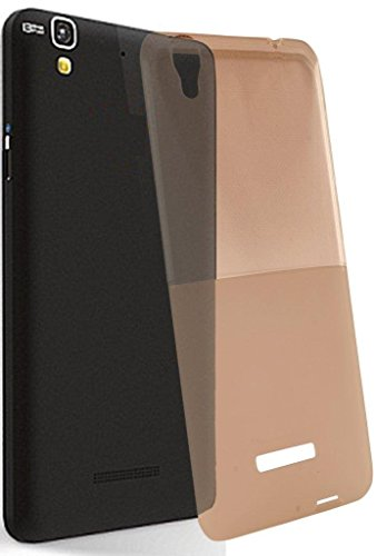 Exclusive Soft Silicon Transprent Back Case Cover For Micromax YU Yureka -Brown