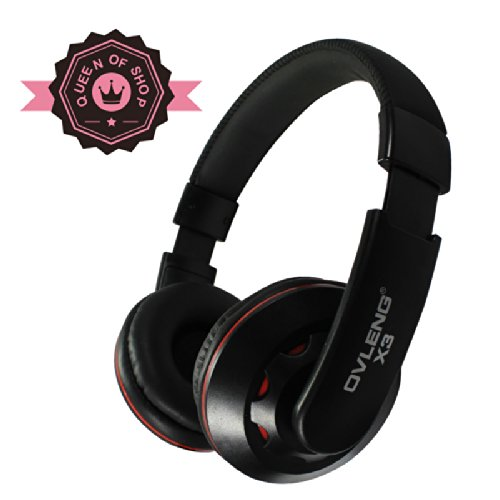 Adjustable Circumaural Red Over-Ear Earphone Stero Headphone 3.5Mm For Ipod Mp3 Mp4 Pc With Micro Answer The Call