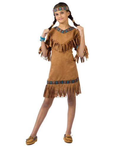 American Indian Girl Child Lg Kids Girls Costume