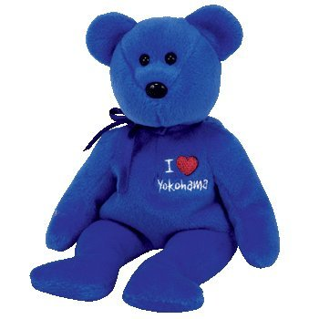TY Beanie Baby - YOKOHAMA the Bear (I Love Yokohama - Japan Exclusive) - 1