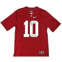 A.J. McCarron Signed Alabama Crimson Tide Nike NCAA Jersey with Roll Tide Inscription...