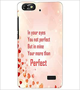 PrintDhaba Quote D-4245 Back Case Cover for HUAWEI HONOR 4C (Multi-Coloured)