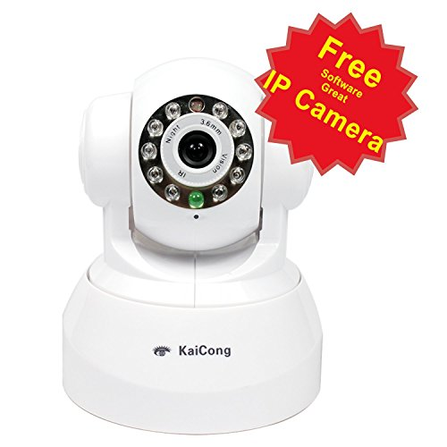 Best Buy! KaiCong Sip1602 Plug & Play/Pan & Tilt IP Camera/Wireless&Wired Connection/Motion Detectio...