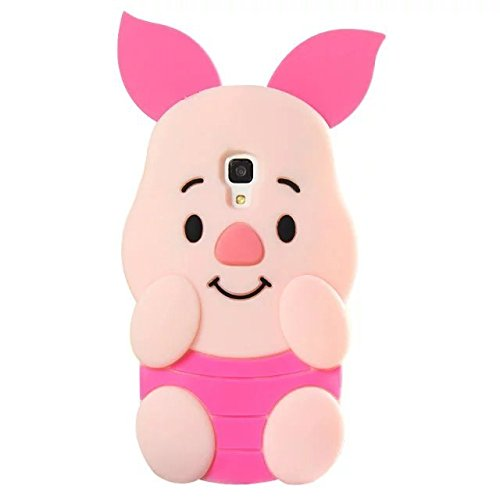 Galaxy S4 Case, Anya 3D Cute Lovely Cartoon Animal Soft Rubber Silicone Back Shell Case Cover for Samsung Galaxy S4 i9500 Ears Can Move Piglet Pig Pink (Samsung Galaxy S4 Ford Case compare prices)