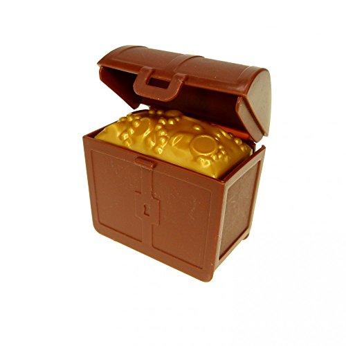 1 x Lego Duplo Schatz Truhe Kiste gold braun