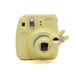 [Fujifilm Instax Mini 8 Selfie Lens] -- Lalonovo Rabbit Style Instax Close Up Lens with Self-portrait Mirror for Fujifilm Instax Mini 8 Instant Film Camera (Yellow)