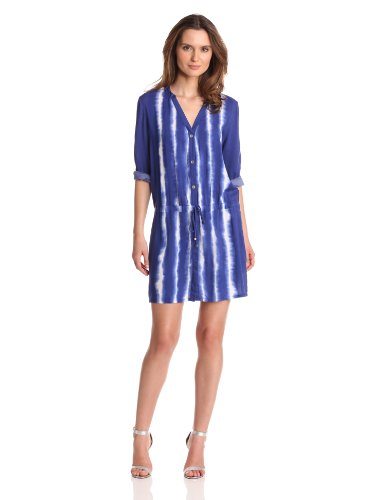 ViX Women's Cayman Agatha Short Dress , Blue, Medium