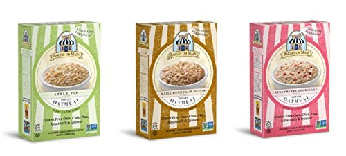 Bakery On Main Gluten Free Non-GMO Instant Oatmeal, Variety Pack, 50g, 6 Count (Pack of 6)