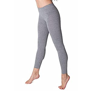 American Apparel Cotton Spandex Jersey Legging, Athletic Grey, Large