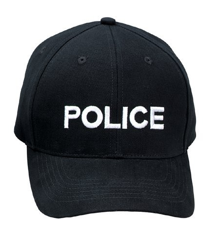 Low Profile Black ''Police'' Cap