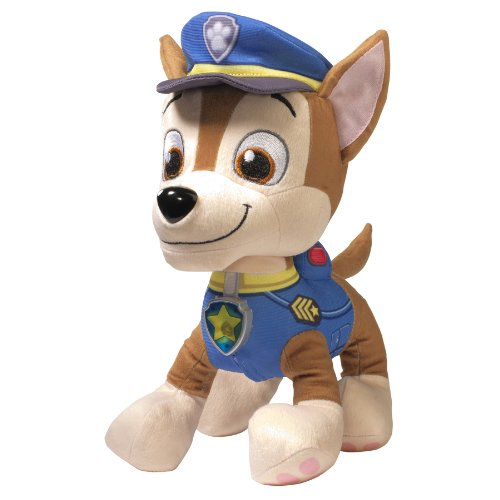 Paw Patrol - Deluxe Lights and Sounds Plush - Real Talking Chase