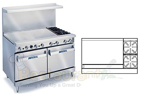 Imperial-Commercial-Restaurant-Range-48-With-2-Burners-36-Griddle-2-Standard-Ovens-Nat-Gas-Ir-2-G36