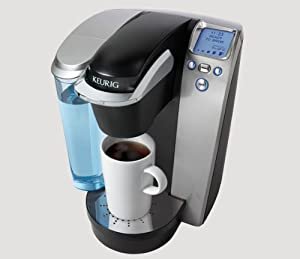 Keurig K75 Single-Cup Home-Brewing System with Water Filter Kit, Platinum