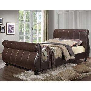 Birlea Marseille Faux Leather Bed - Brown