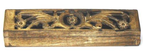 Incensario de madera tallada soporte/Caja de humo