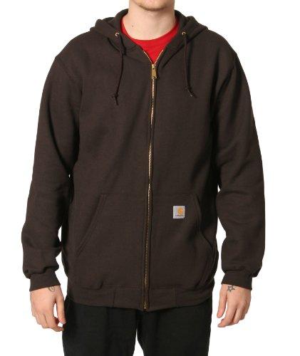 Carhartt K122 Hooded Sweatshirt Brown Mens Hoodie Top