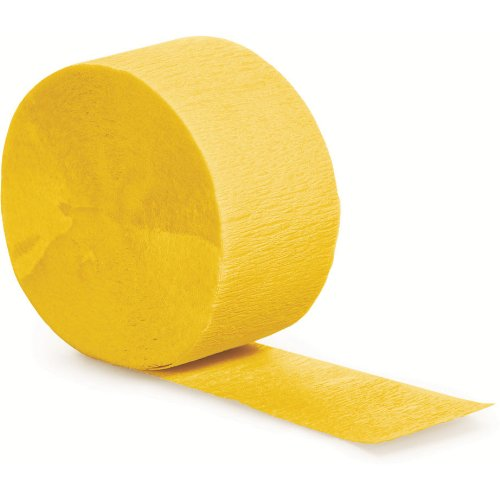 Creative Converting Touch of Color Crepe Paper Streamer Roll, 81-Feet, School Bus Yellow