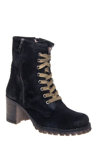 MTNG Callie Wax 90231 Mid Heel Lace Up Bootie