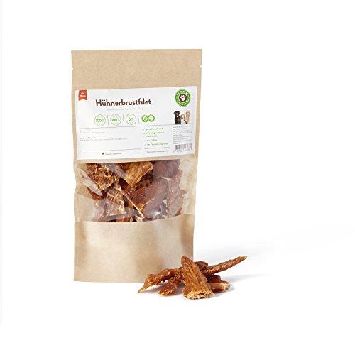 Artikelbild: BARF für Hunde, Hundesnack, Trockenfleisch Hühnerbrustfilet Hunde 100g   PETS DELI   gesunder Snack für Hunde und Katzen, 100% pures Premium-Fleisch, luftgetrocknet
