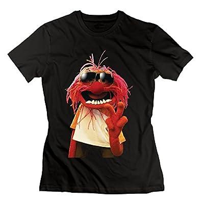 Women's Love Muppets Jumbo Animal Cartoon Logo T-shirt -Black