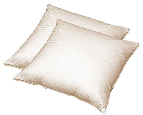 Kisseninlett Kissenfüllung 40x40cm Bezug 100/% Baumwolle Füllung Gänse-Entenfeder