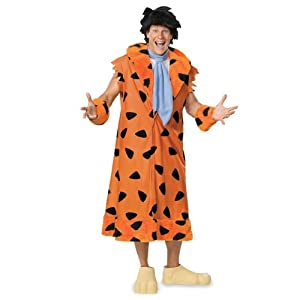 The Flintstones Fred Costume, Orange/Black, X-Large