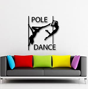 Wall Stickers Vinyl Decal Striptease Pole Dance Passion Night Club (i468) from Wallstickers4you