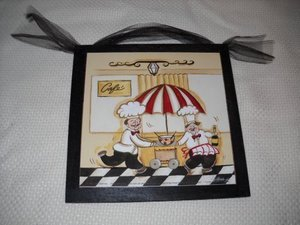 Cafe Kitchen Chefs Wooden Wall Art Sign Wine