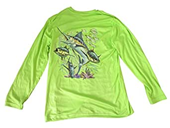 All american fishing youth 39 s 40 upf dri fit for Dri fit fishing shirts