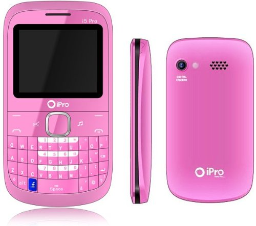 **MEGASET** iPro I5 in PINK Dual Sim Qwerty Bluetooth + Kartenleser USB Stick + KFZ Ladeadapter Mobile Smartphone PDA Dualsim Neu PINK von Avcibase