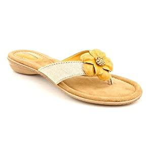 Giani Bernini Alexia Womens Size 7.5 Yellow Open Toe Flip Flops Sandals Shoes