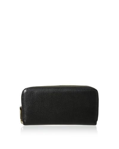 Zenith Women's Double Zip Wallet, Black