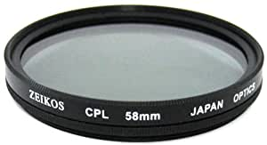 Zeikos ZE-CPL58 58mm Multi-Coated Circular Polarizer Filter