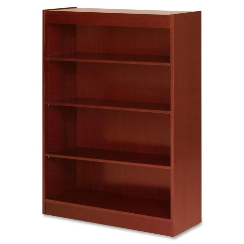 Lorell 4-Shelf Panel Bookcase, 36 by 12 by 48-Inch, Cherry 48