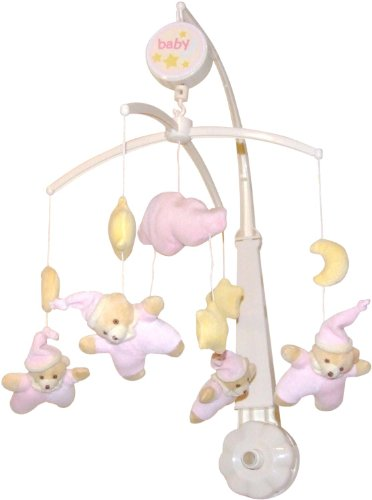 Imagen principal de Bieco 17-040104 - Móvil Musical Purzelbaerchen, Osito, rosa
